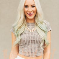 The Short Of It Taupe Crop Top