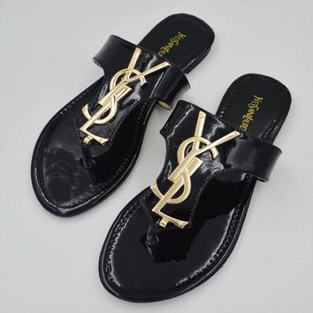 Trendsetter YSL Yves Saint Laurent Women Casual Flat Sandal Slipper Shoes