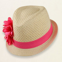 baby girl - outfits - straw flower fedora   Children's Clothing   Kids Clothes   The Children's Place