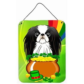 Japanese Chin St. Patrick's Day Wall or Door Hanging Prints BB1974DS1216