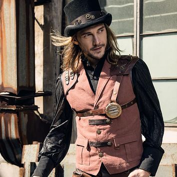 Men's Steampunk Retro Vest