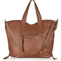 Casual Leather Holdall - Tan