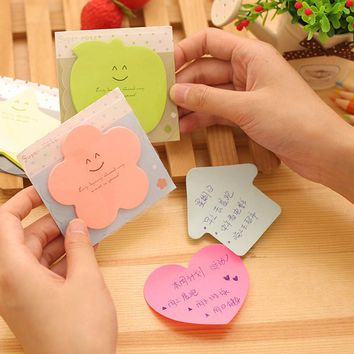 6 pcs/lot Bling Star Sticky Notes Paper Candy Color Super Lovely Post It Memo Pads Sticker Flag School Office Stationery Supply