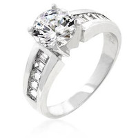 Antoinette Engagement Silver Ring, size : 06