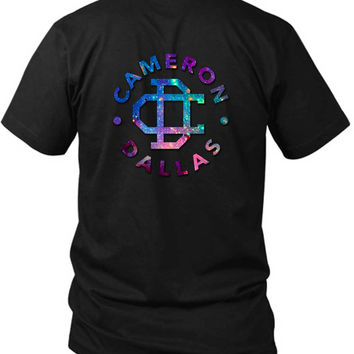 Cameron Dallas Galaxy Clip 2 Sided Black Mens T Shirt