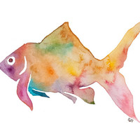 Goldfish Print Archival Quality Watercolor Giclee