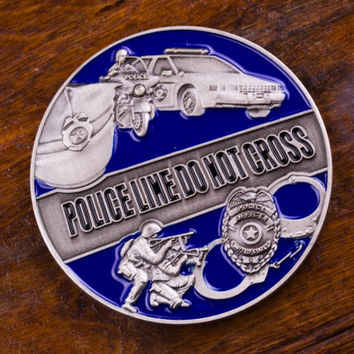 Police Officer's Prayer Challenge Coin