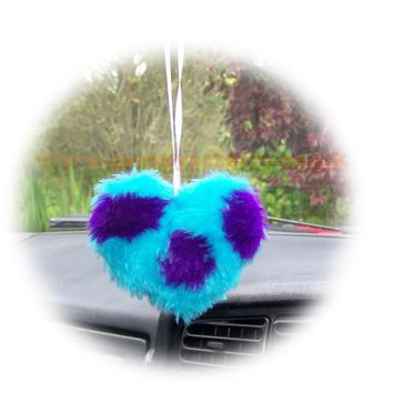 Cute Spotty Monster Sully Fluffy heart hanging