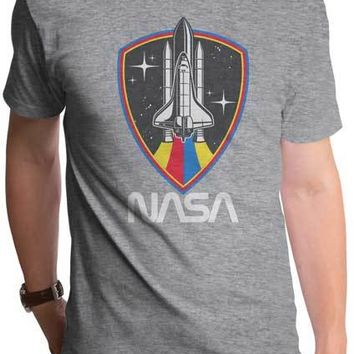 NASA Shuttle Shield Mens T-Shirt