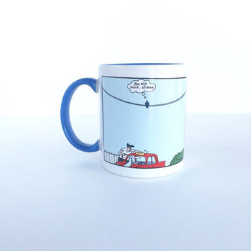Vintage The Far Side Bird Target Coffee Mug by Gary Larson, The Far Side You Are Mine All Mine Humorous Bird Coffee Cup