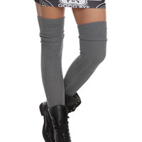 LOVEsick Grey Cable Knit Over-The-Knee Socks