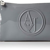 Armani Jeans Eco Patent Crossbody Clutch Bag Wallet