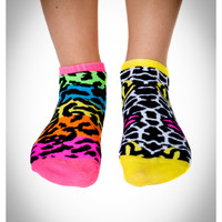 Mix and Match Animal Print No Show Socks 10 Pk