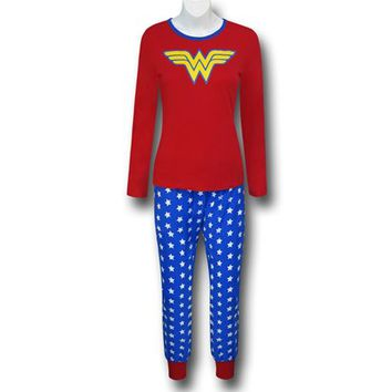 Wonder Woman Women's Long Sleeve Glow Sleep Set