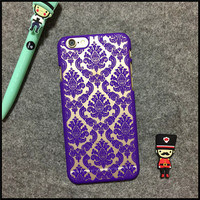 Floral Lace Pattern Phone Case Cover for iPhone 6S & iPhone 6S Plus
