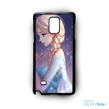 Disney Frozen Sisters Anna and Elsa Best Friend Couple for Samsung Galaxy Note 2/Note 3/Note 4/Note 5/Note Edge phone case