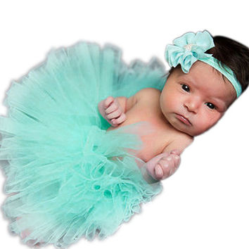 Newborn/Toddler Baby Girl Tutu Skirt & Headband