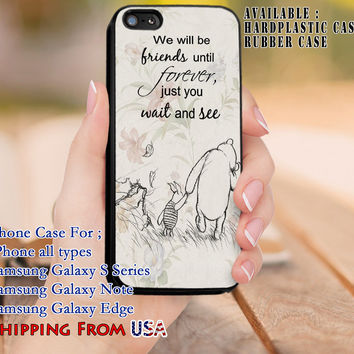Friends Untill Forever Quote iPhone 6s 6 6s+ 5c 5s Cases Samsung Galaxy s5 s6 Edge+ NOTE 5 4 3 #quote dl8