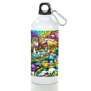 Gift Sport Bottles | Adventure Time Stained Glass Aluminum Sport Bottles