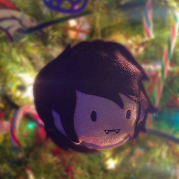 Adventure Time Marshall Lee Wool Felt Polyfill Stuffed Christmas Ornament