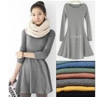 FASHION LOOSE NICE WOOL COMFORTABLE DRESS
