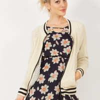 Sugarlips Country Club Bomber Retro Knit Jacket
