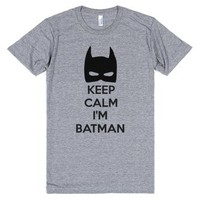 Keep Calm I'm Batman tee t shirt-Unisex Athletic Grey T-Shirt
