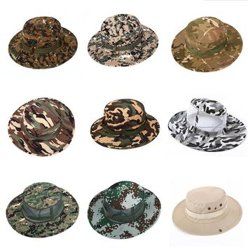 Men Women Army Camo Hunting Fishing Hiking Outdoor Cap Bucket Boonie Sun UV Hat