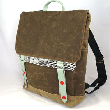 Peppermint Taxi Waxed Canvas Backpack