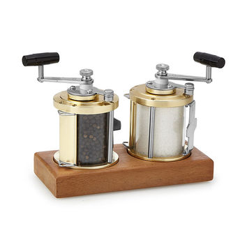 Ocean Reel Salt and Pepper Mills | fishing decor, salt and pepper shaker