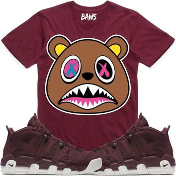 CRAZY BAWS Sneaker Tees Shirt - Uptempo Night Maroon