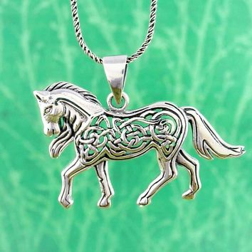 Mythical Celtic Horse Necklace