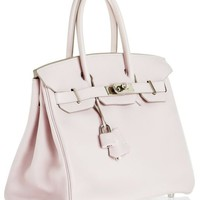Hermes - Hermes Rose Dragee Swift Leather Birkin 30cm Handbag | MALLERIES
