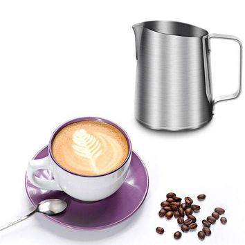 VONWZ7 New Stainless Steel Coffee Frothing Pitcher Garland Cup Drinkware for Tea Mocha Cappuccino Milk Cafe Chocolate Mugs