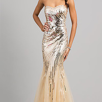 Strapless Sequin Mermaid Gown