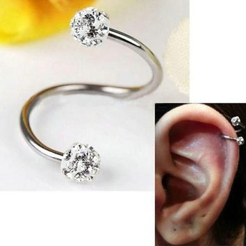 PEAPYV3 Steel Stainless Steel Twist Helix Cartilage Earring Piercing Lots Nose Ring And Studs Body Jewelry L10523