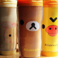 Rilakkuma Coffee Tea Vacuum Thermal Warm Travel Mug Cup Bottle 12 OZ (OT004)