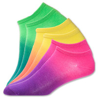 Women's Sof Sole Dip Dye No Show Socks 3-Pack