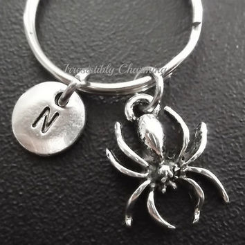 Spider keyring, keychain, bag charm, purse charm, monogram personalized custom gifts under 10 item No.611
