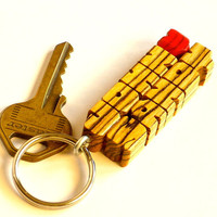 Love Keychain - Bocote Wood Names - Carved to Order