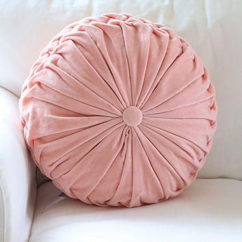 Pink Velvet Throw Pillow