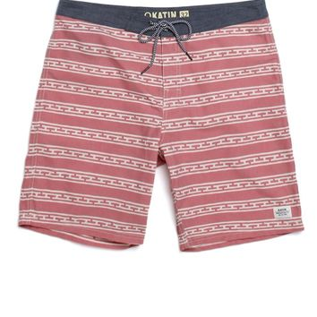 Katin Comanche Boardshorts - Mens Board Shorts - Red