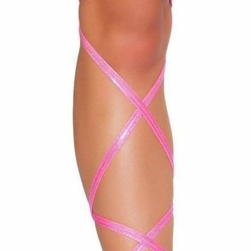 "Roma USA Dance Wear 100"" Shimmer Leg Strap with Attached Garter"