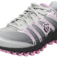 K-SWISS Women's Tubes Run 100 Running Shoe,Black Fade/Bubblegum,7.5 M US