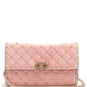 Rockstud Spike quilted-suede clutch | Valentino | MATCHESFASHION.COM UK