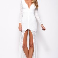 One Last Time Maxi Dress White
