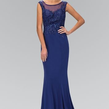 Lace Bodice Fitted Dress 103-GL1411 Prom dress Bridesmaid dress