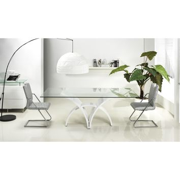 MANHATTAN Collection High Gloss White Lacquer Dining Table CB-060 by Casabianca Home
