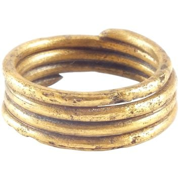 FINE VIKING COIL RING, 10th CENTURY AD