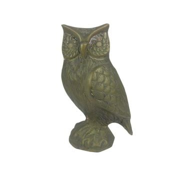 Pre-owned Brass Owl Figure